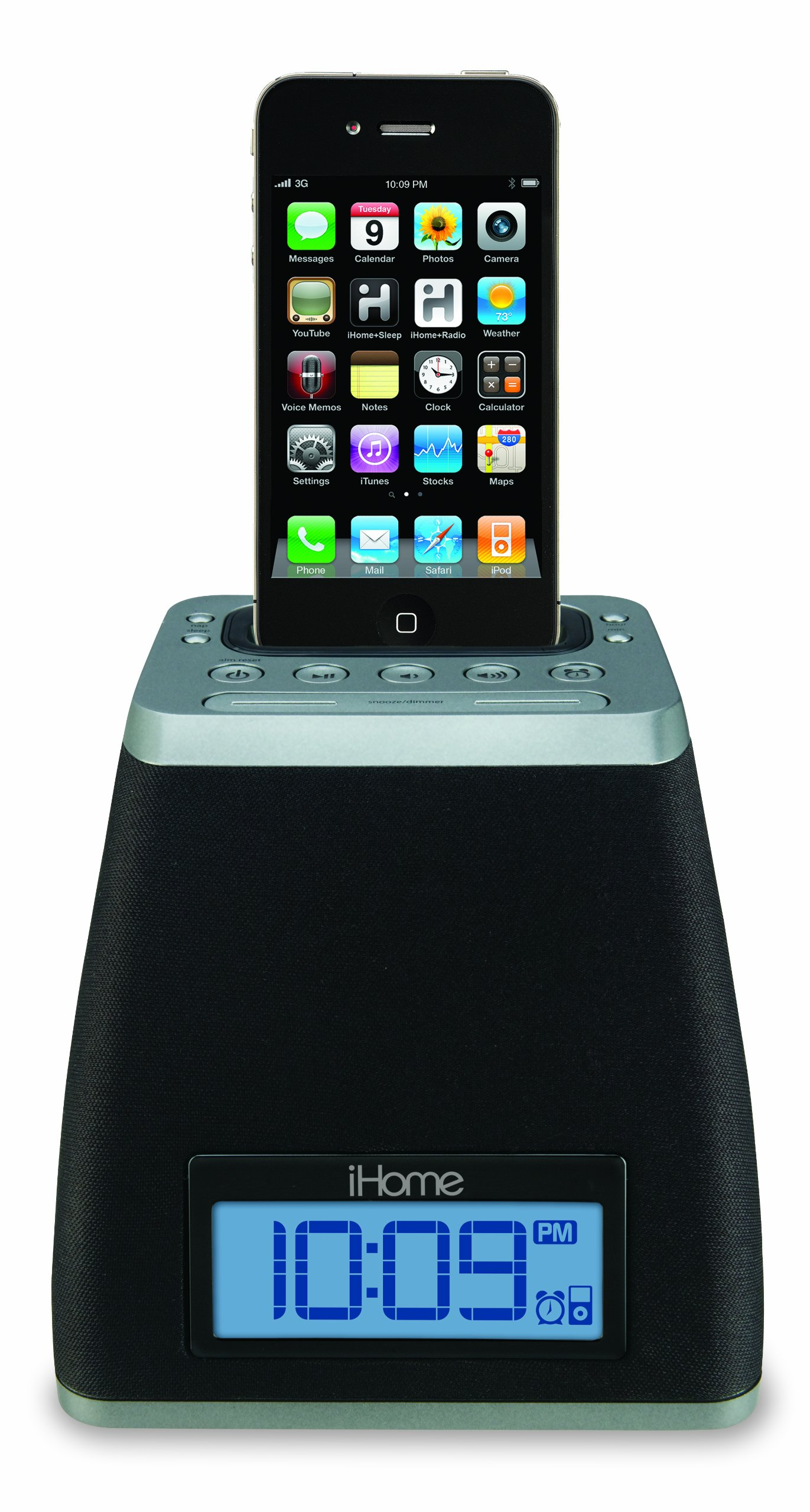 iHome iP21GVC App-Friendly 30-Pin iPod/iPhone Alarm Clock Speaker Dock(Not Compatible w/ iPhone 5) by Sound Design (Image #2)