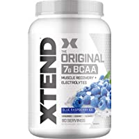 Scivation Xtend Original BCAA, Blue Raspberry Ice, 90 Servings, 1260 gm