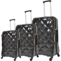 Track Trolley Bags, Set of 3 Pieces, Black, 9319/3P