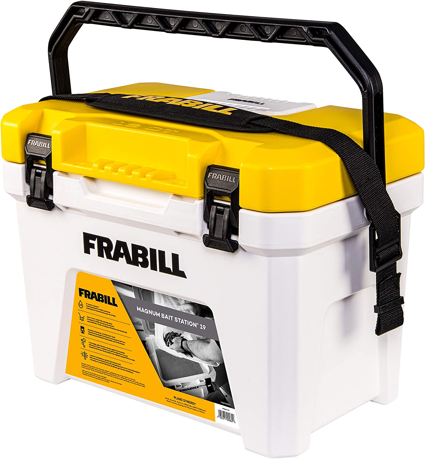 Frabill Magnum Bait Station 30 | 30 Quart Bait Cooler with Dual Aeration
