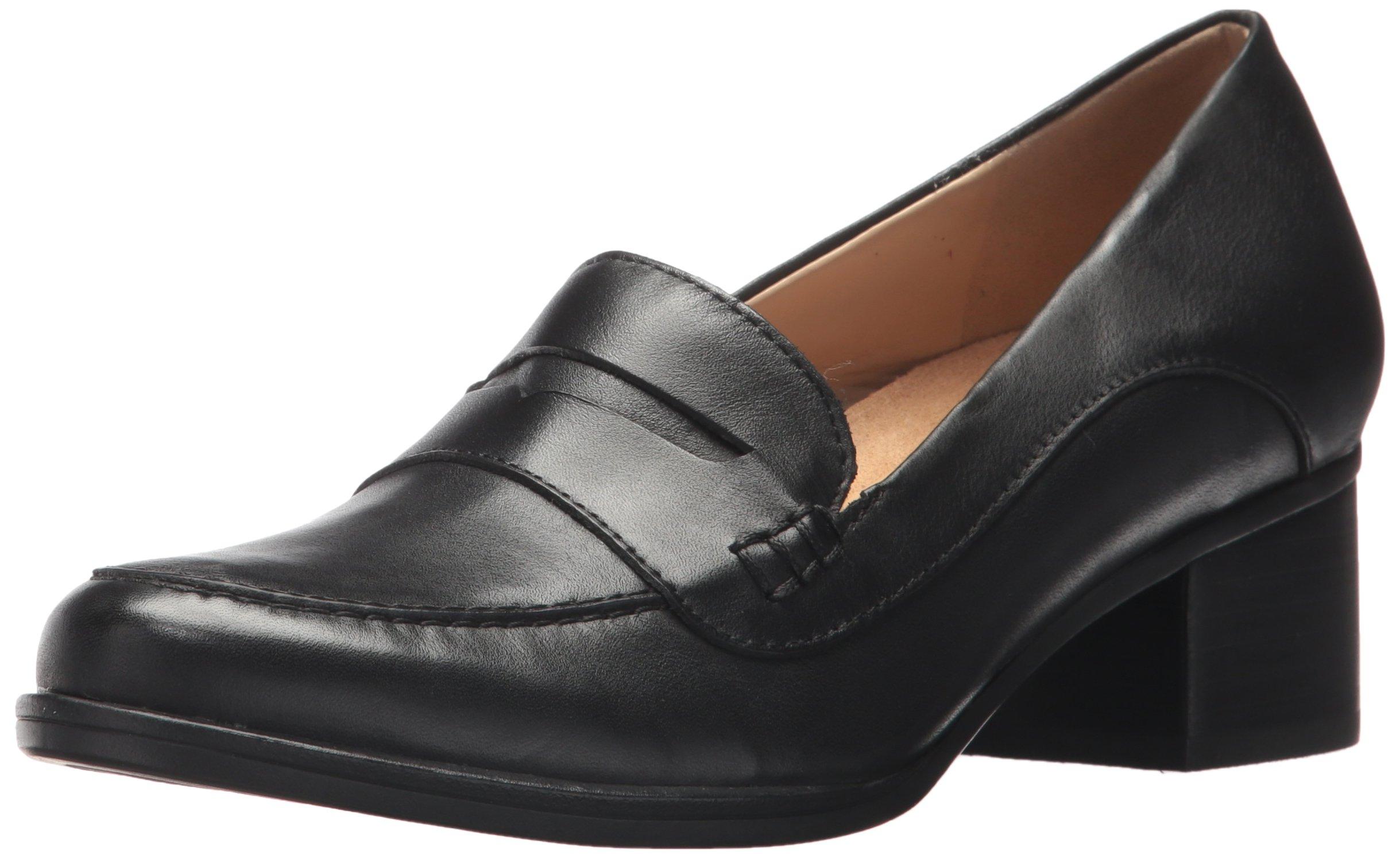 Naturalizer Women's Dinah Loafer, Black, 8 Wide US