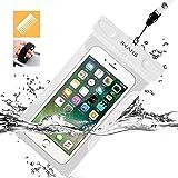 iWANS 防水ケース スマホ用防水ポーチ 防水等級IPX8 高感度PVCタッチスクリーン お風呂 温泉 潜水 5.5インチまでのiPhoneとAndroidスマホに対応可能