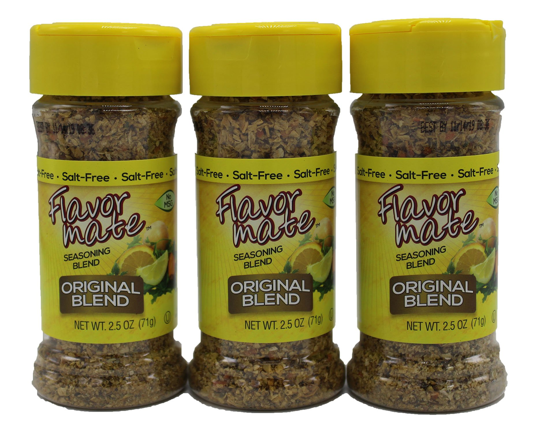 Flavor Mate Salt Substitute Original Seasoning Blend - 2.5 oz (Pack of 3 ) by Flavor Mate