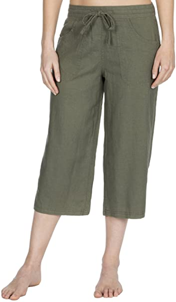 cheap sale value for money online Causeway Bay Ladies Linen Blend Cropped 3/4 Length Trousers