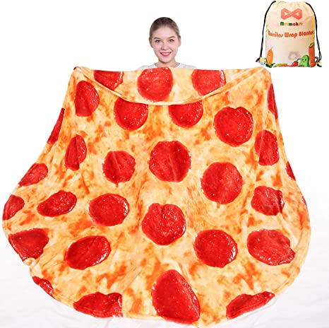 Pizza Blanket 2.0 Double Sided, Novelty Realistic Food Gift