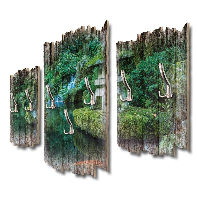 Kreative Feder Steinlaterne Designer Wandgarderobe Flurgarderobe Wandpaneele 95 x 60 cm aus MDF DTGH098
