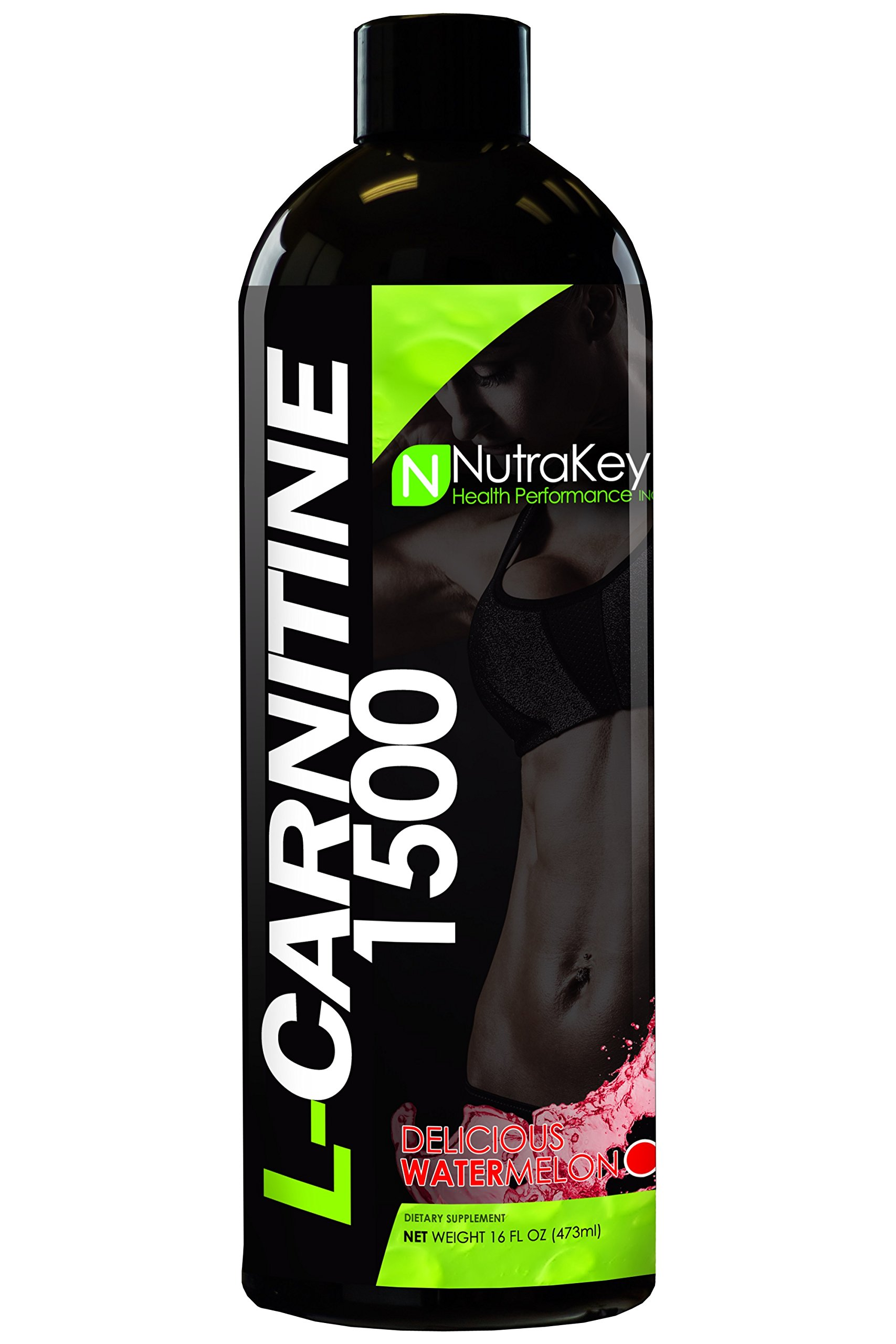 NutraKey Liquid L-Carnitine Watermelon Flavor, 16-Fluid Ounce