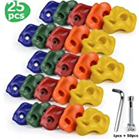 Made in the U.S.A 50 LARGE Bolt on Rock Climbing Holds with Hardware