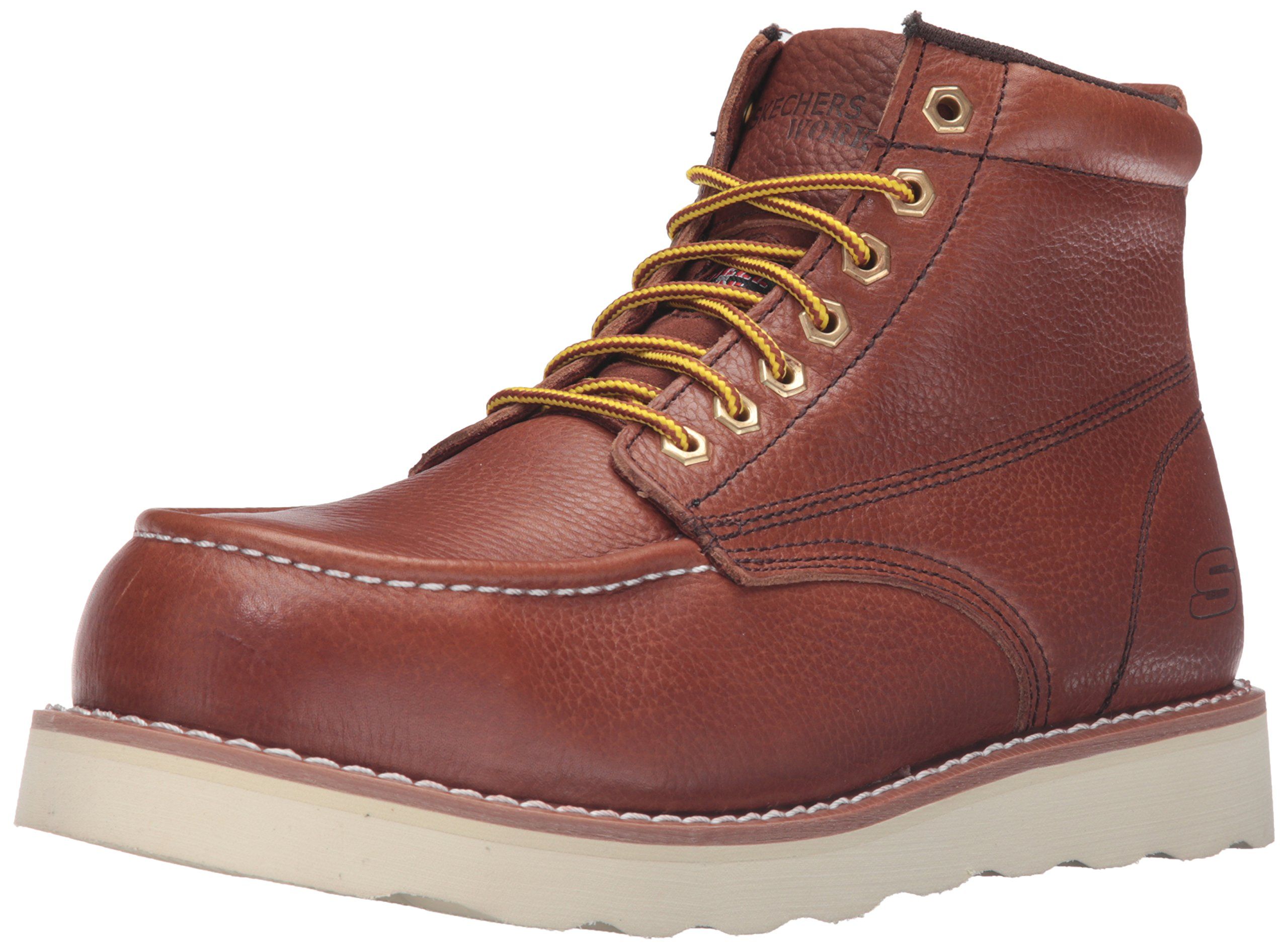 Skechers for Work Men's Pettus Grafford Work Boot,Red Brown,10.5 M US
