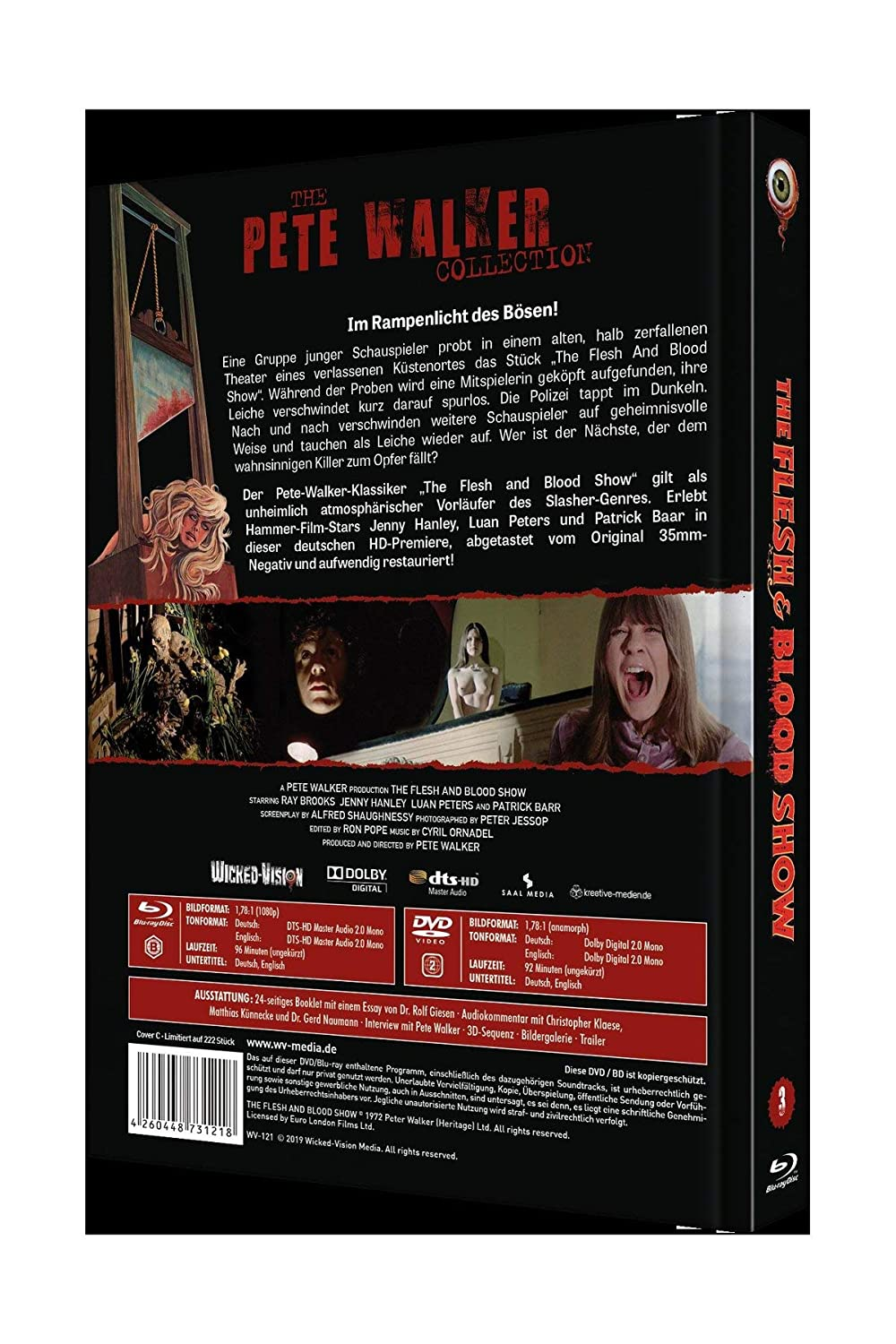 The Flesh & Blood Show Pete Walker Collection Nr. 3 2-Disc ...