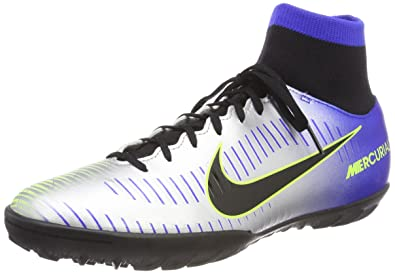 Nike MercurialX Victory VI NJR TF, Chaussures de Football Homme, Bleu (Racer Blue Black Chrome Volt 407), 40 EU
