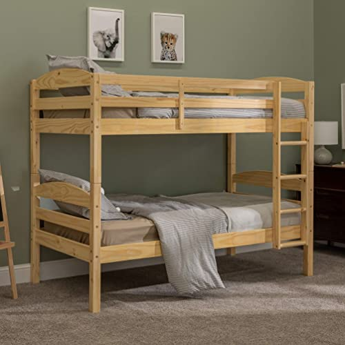 Walker Edison Wood Twin Bunk Kids Bed Bedroom
