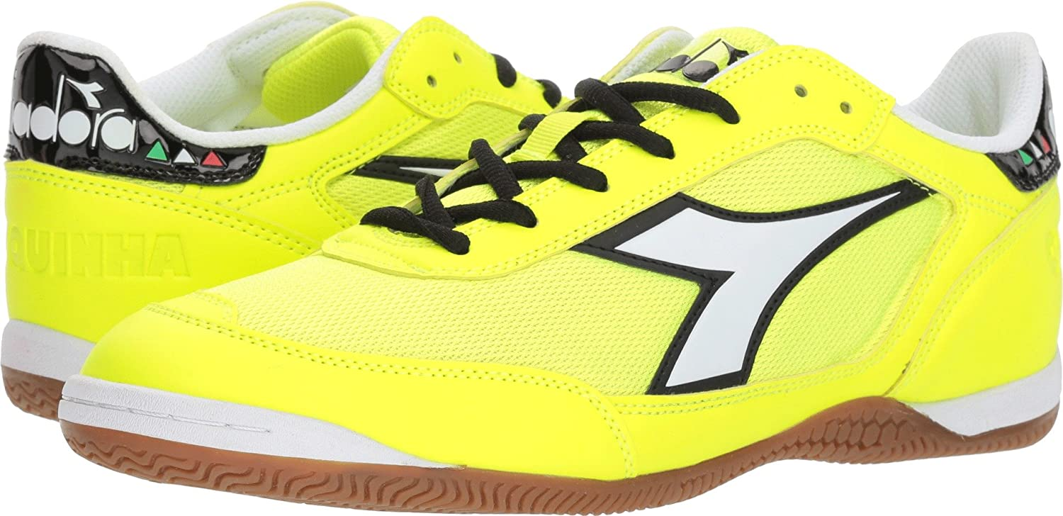 Diadora ユニセックスアダルト B07693Z3JFYellow Fluo/White 14 Women / 12.5 Men M US
