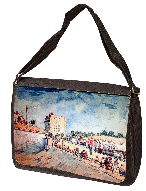 Gate In The Paris Ramparts By Vincent Van Gogh Laptop Shoulder Bag