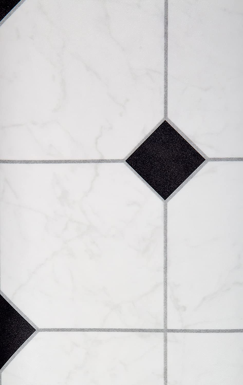 PVC Bodenbelag Fliesenoptik Auslegware 2,6 mm Dicke Fliese Anthrazit 550 x 400 cm Weitere Farben und Gr/ö/ßen verf/ügbar