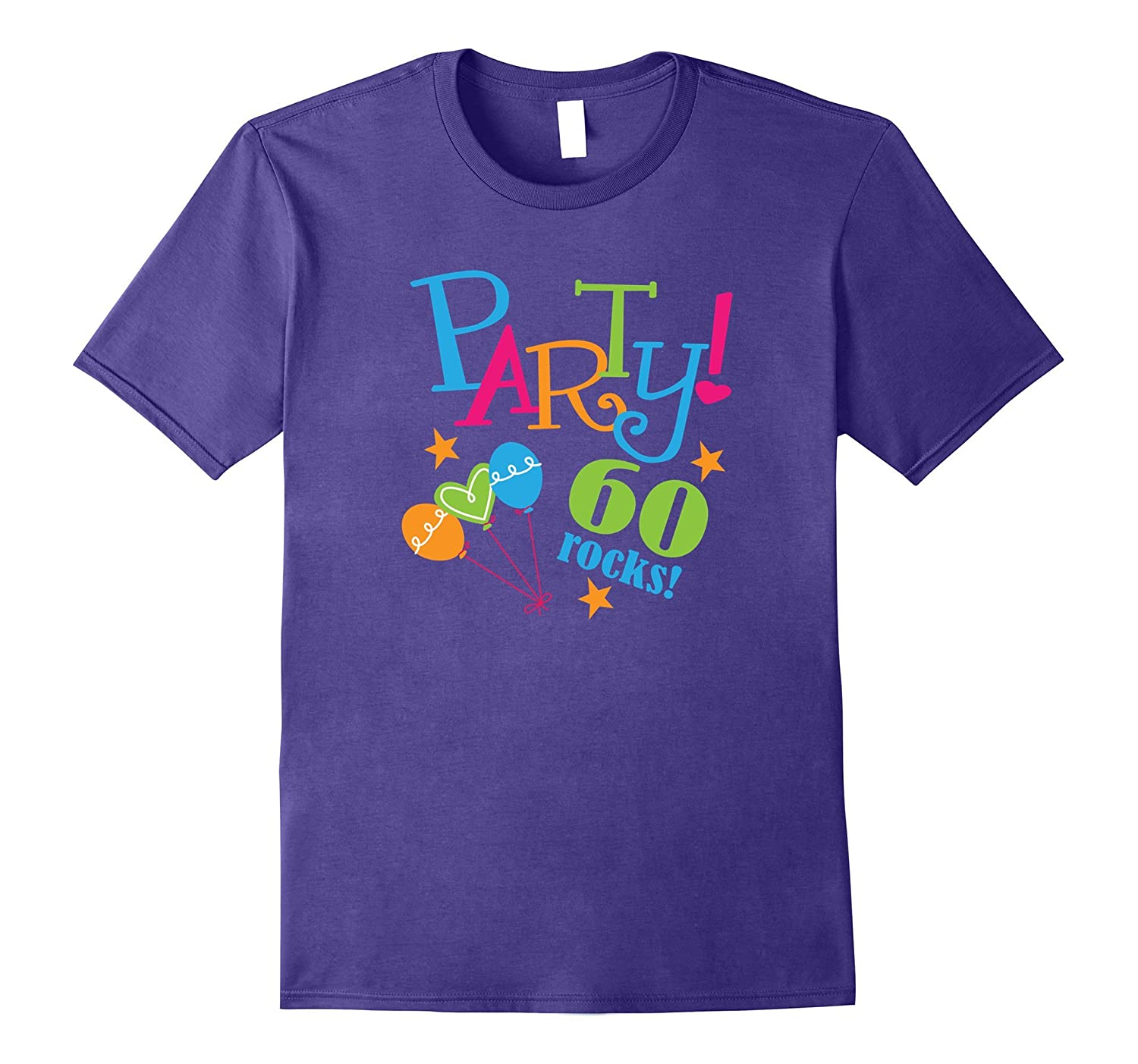 60th Birthday Shirt Funny 60 Rocks Party Photo Tee-PL