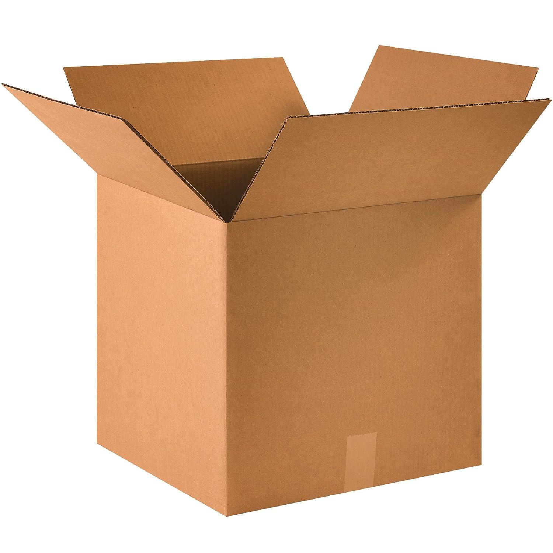 "BOX USA B161615 Corrugated Boxes, 16""L x 16""W x 15""H, Kraft (Pack of 25)"