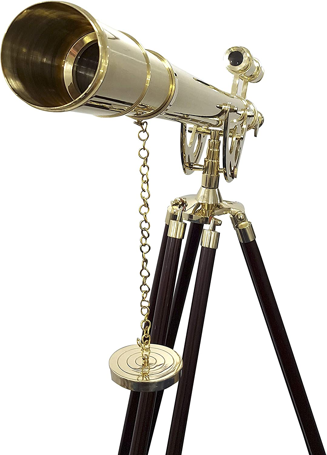 "Nautical Brass 39/"" Telescope Single Barrel Bronze Finish With Stand"