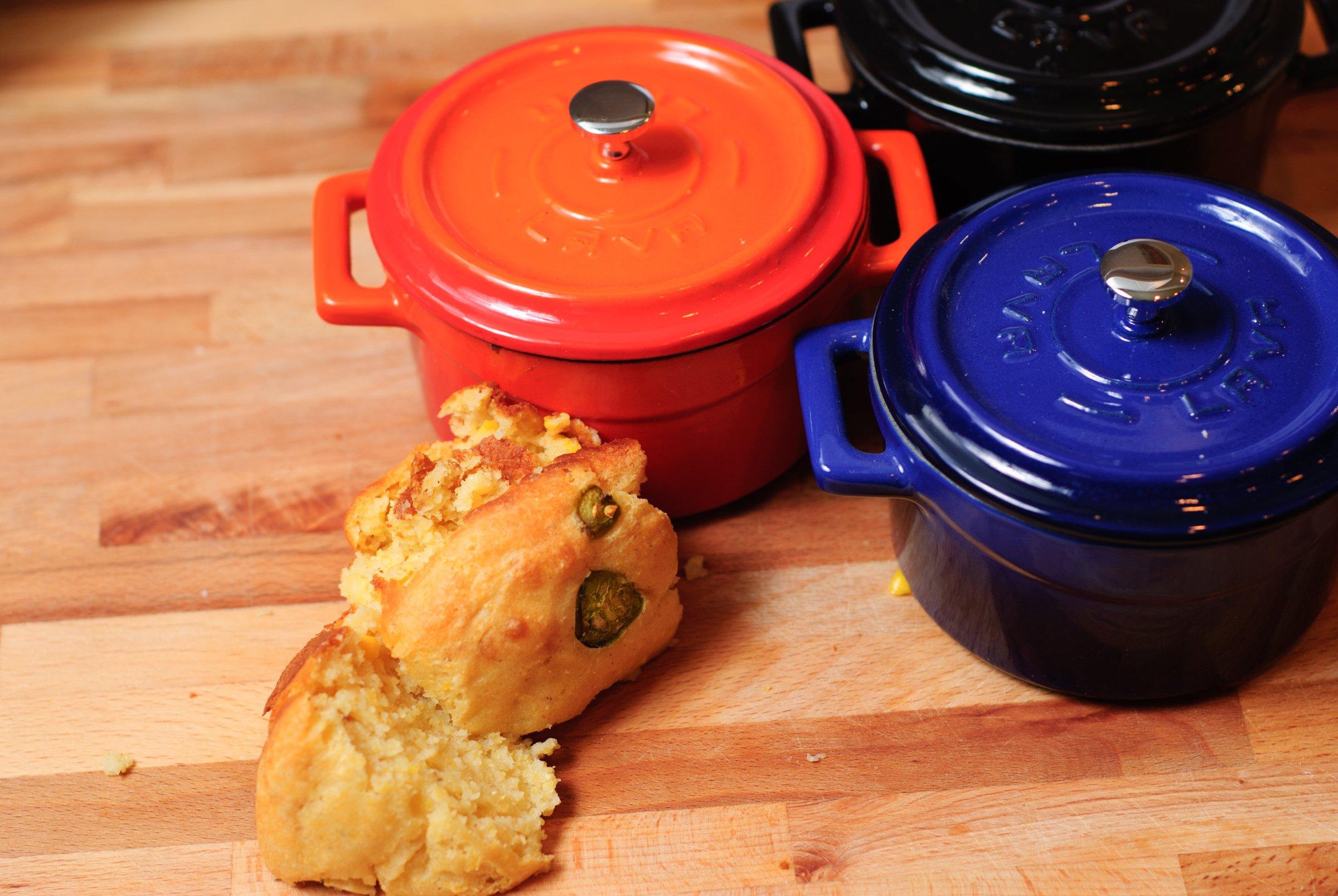 Lava Signature Enameled Cast-Iron Mini Dutch Oven - 12 ounce, Cobalt Blue by Lava Cookware (Image #3)