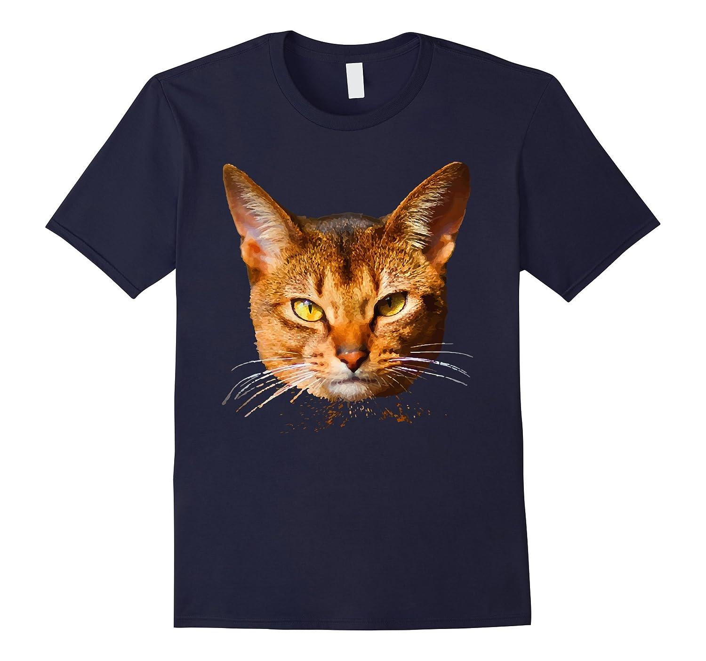Abyssinian Cat Shirt - Abyssinian Cat Face T shirt-AZP