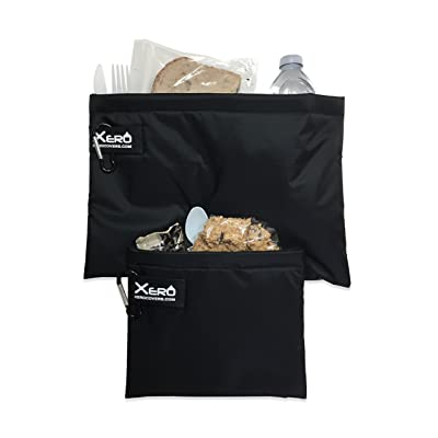 XeroCover Snack Sleeve: Insulated Sleeve Lunch Bag, Made in America (Black, Small and Large Combo): Kitchen & Dining