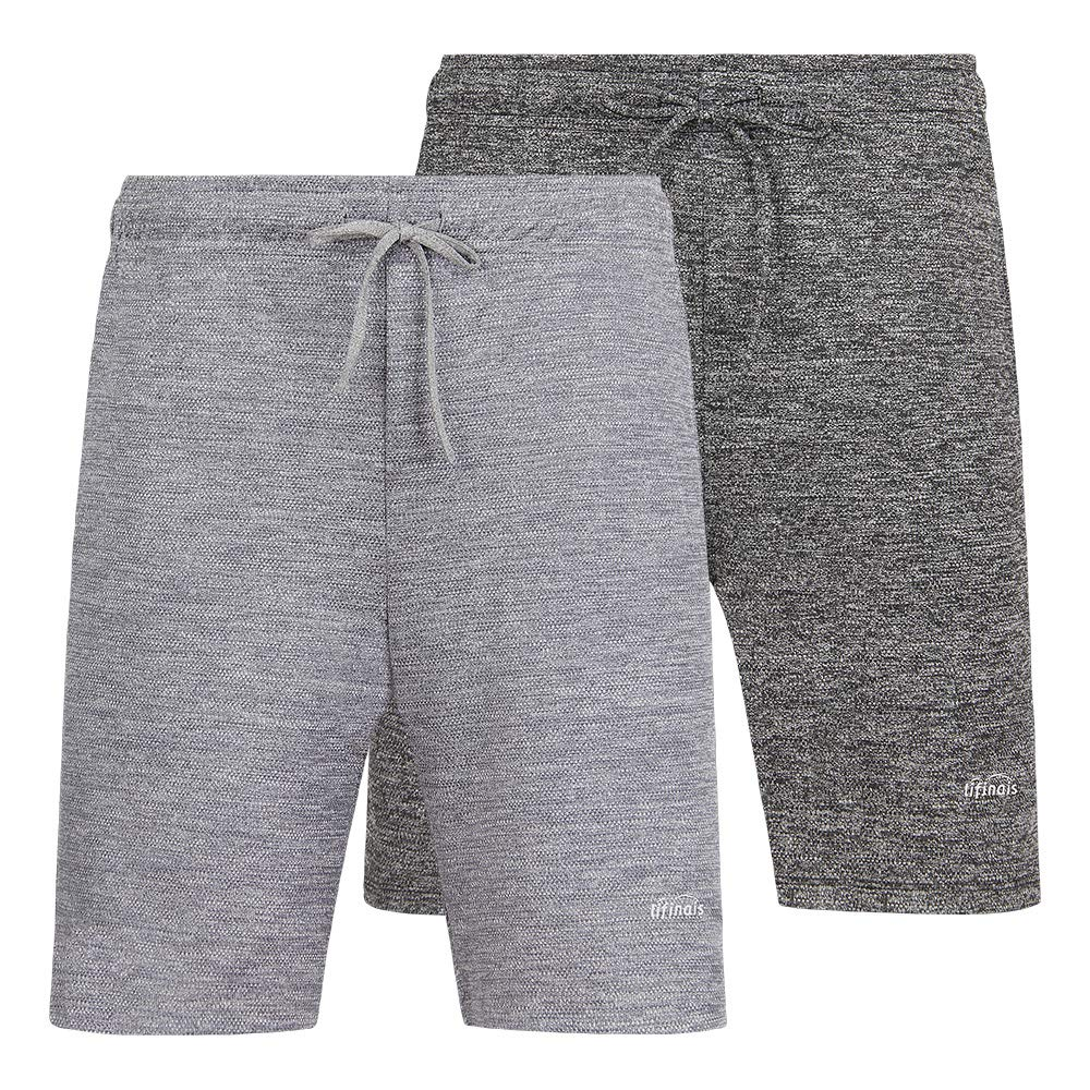 LIFINAIS Men's Athletic Shorts with Pockets Gym Running Workout Shorts Active Training Shorts Casual Shorts(Large, 2 Pack:Dark Gray,Light Grey) by LIFINAIS