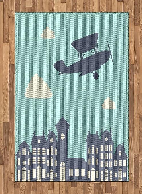 Amazon.com: Alfombra de avión, diseño vintage, para volar ...