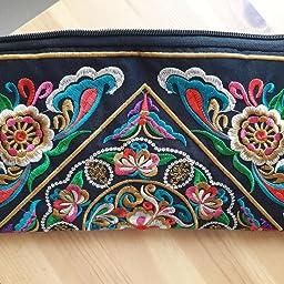 Tinksky Vintage mujer étnica monedero cartera bolsa mariposa ...