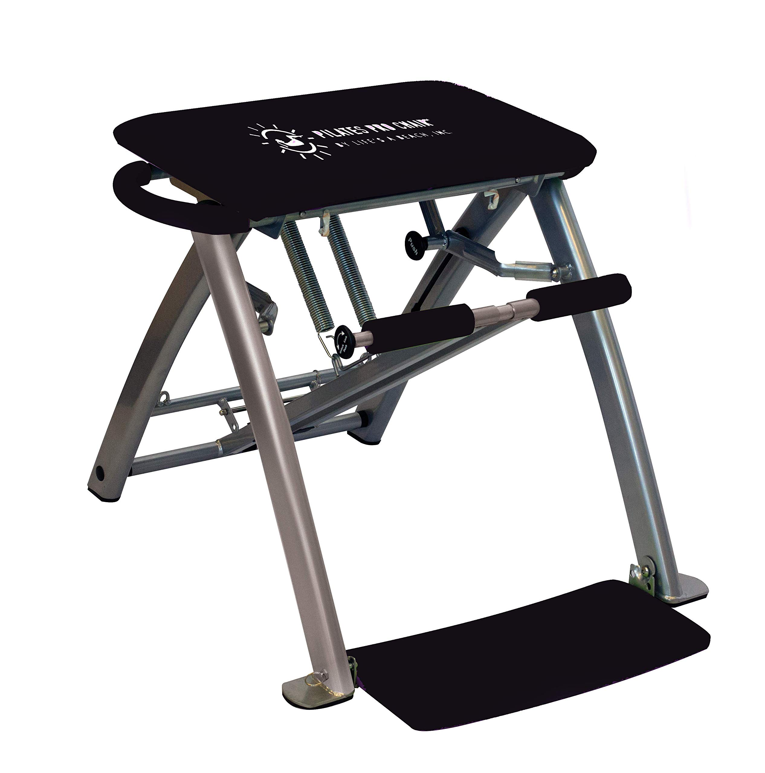 Life's A Beach Pilates PRO Chair with 4 DVDs (Black)