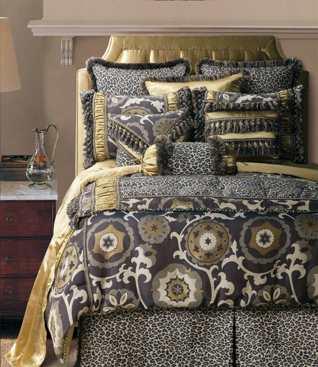 Jennifer Taylor 4 Pcs Comforter Set,Full Size, ESPRESSO Collection