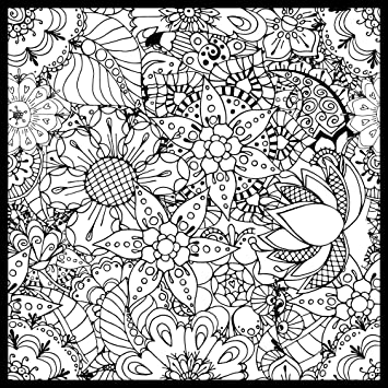 Floral Garden ColorMe! Wall Mural by Magic Murals - Adult Coloring ...
