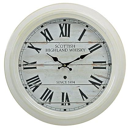 levandeo Grande Reloj Reloj de Pared XXL 47 cm de Metal en Color Blanco –  diseño dedcf2f961a80