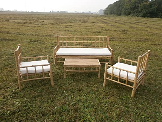 Meubles de jardin en bambou Balcon Extérieur: Amazon.fr: Jardin
