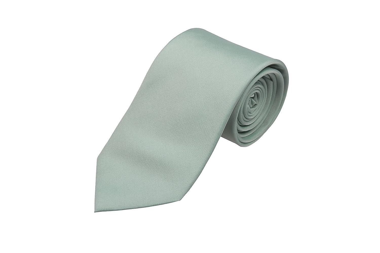 Cravate - Solide Vert Menthe Avec Ton Sur Ton Encoche De Motif En Zigzag VSOHd