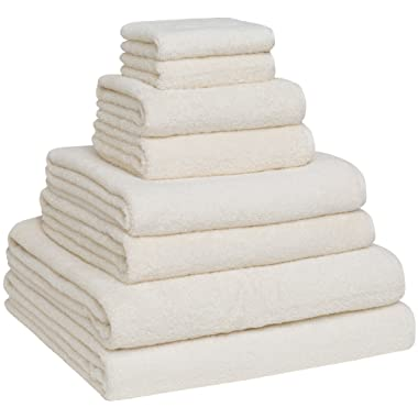 Home and Plan Turkish Cotton Bath Towel Set - Pack of 8 with 2 Bath Sheets (30x60) - Ivory