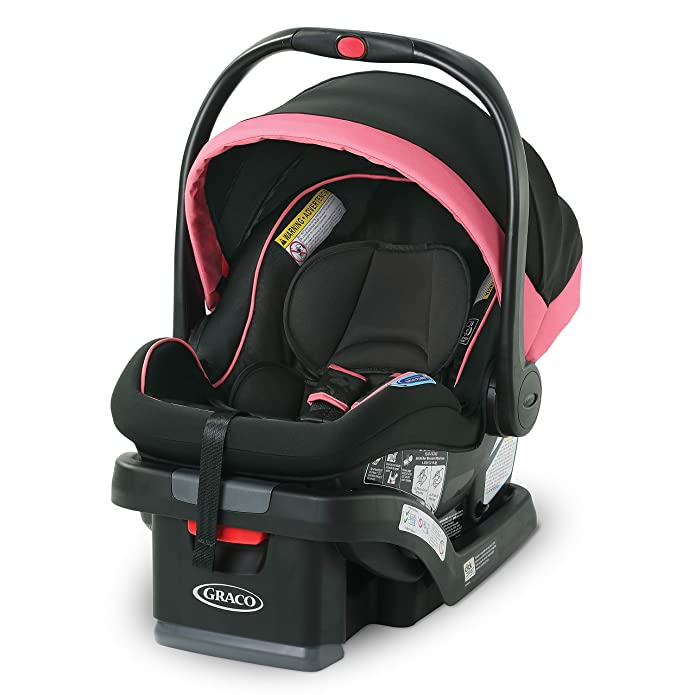 Graco SnugRide SnugLock 35 LX featuring 1-Hand Adjust Infant Car Seat - Tansy