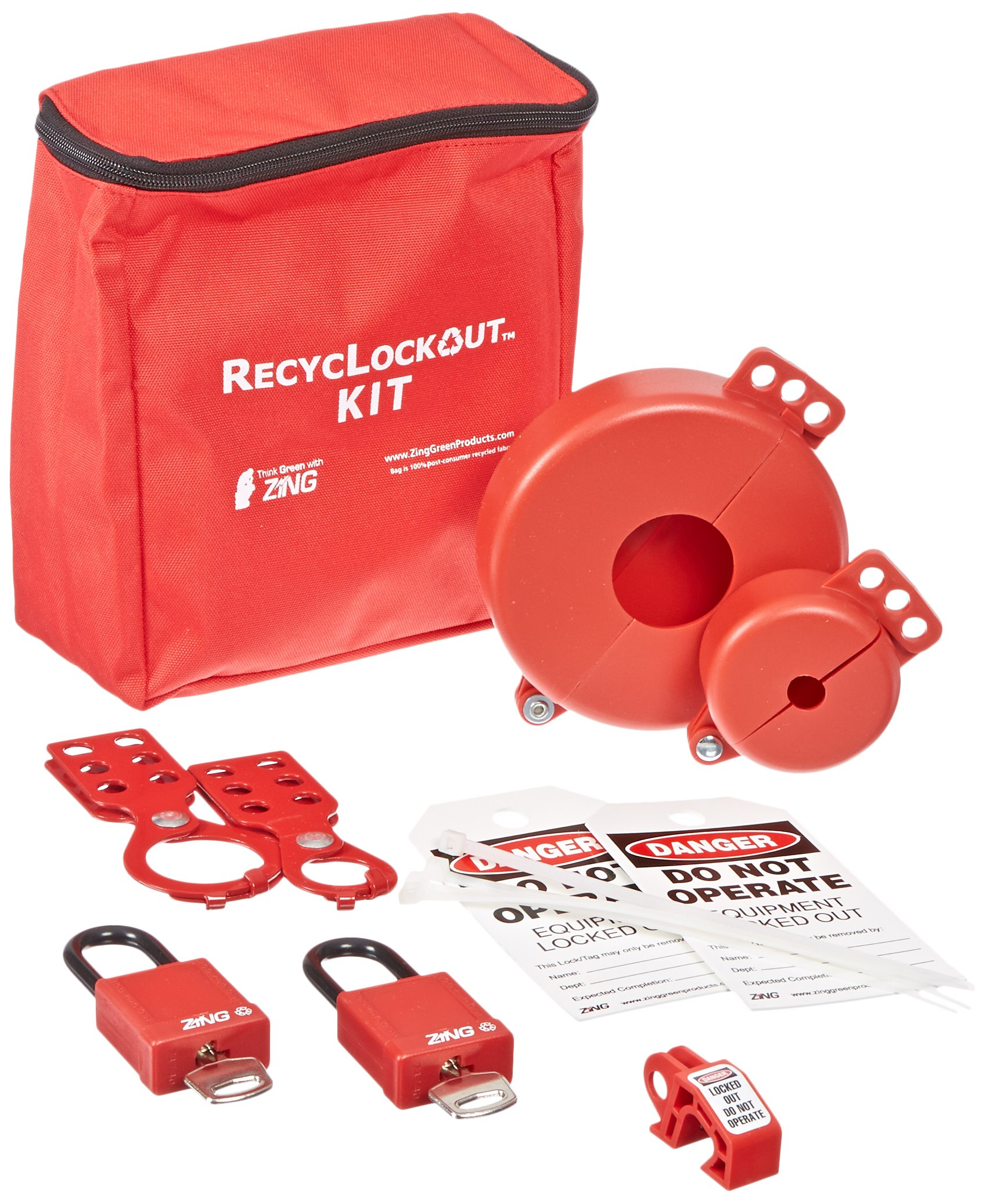 ZING 7120 RecycLockout Lockout Tagout Kit, 12 Component, Valve Lockout by Zing Green Products (Image #2)