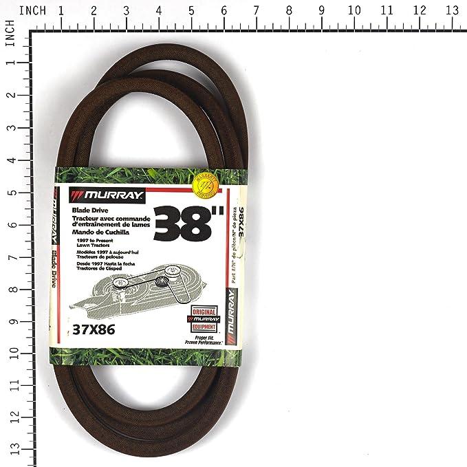 Murray 38-Inch Lawn Mower Blade Belt 97-present 37X86MA