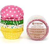 Gifbera Standard Size Paper Baking Cups / Cupcake Liners, 200-Count, Multi Color