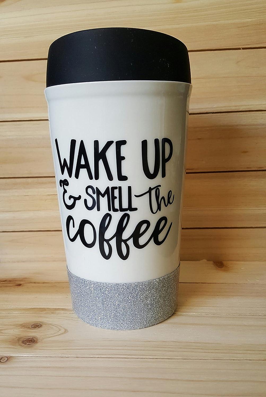 a0fa483be7f Amazon.com: Wake up and Smell the Coffee Mug: Handmade