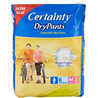 Certainty DryPants, Adult Diaper, Jumbo Pack, M30, M, 30 count