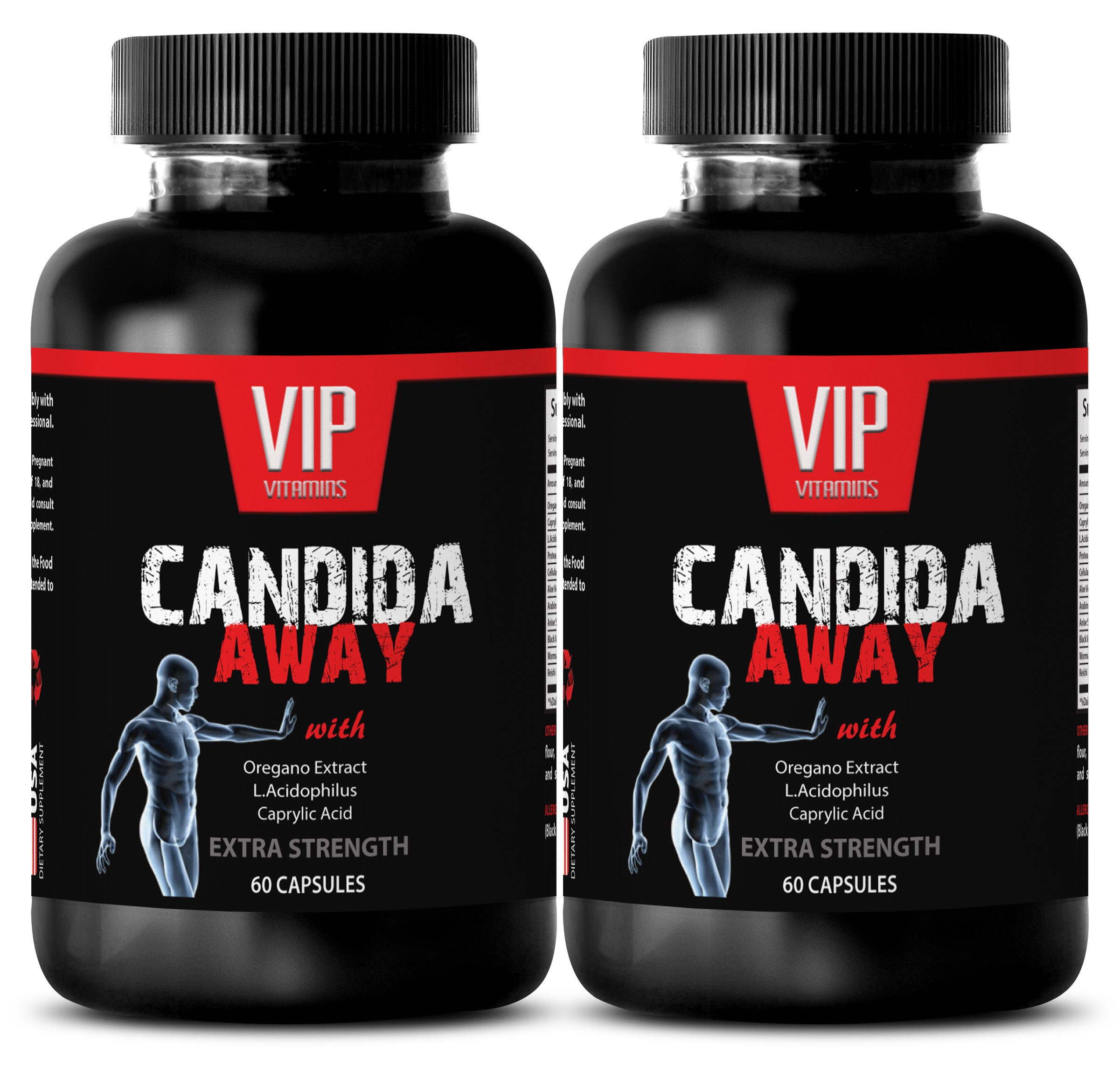 antioxidant all in one - CANDIDA AWAY - EXTRA STRENGTH - candida digest - 2 Bottles (120 Capsules)