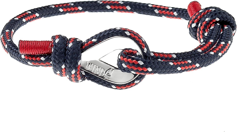 Wind Passion Pulsera N/áutica Cuerda Cord/ón de Calidad Comprobada para Hombre