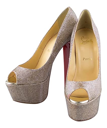 Image Unavailable. Image not available for. Color  CHRISTIAN LOUBOUTIN Gold  Glitter ... b25187142d0b