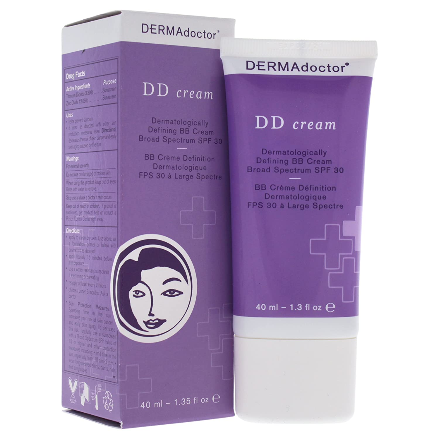 Dermadoctor DD Cream Dermatologically Defining BB Cream Broad Spectrum Spf 30, 1.3 Oz Fab Products