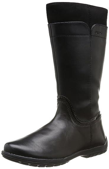 Geox Jr Crissy, Girls Boots, Black (Noir (Black)), 11 UK (30