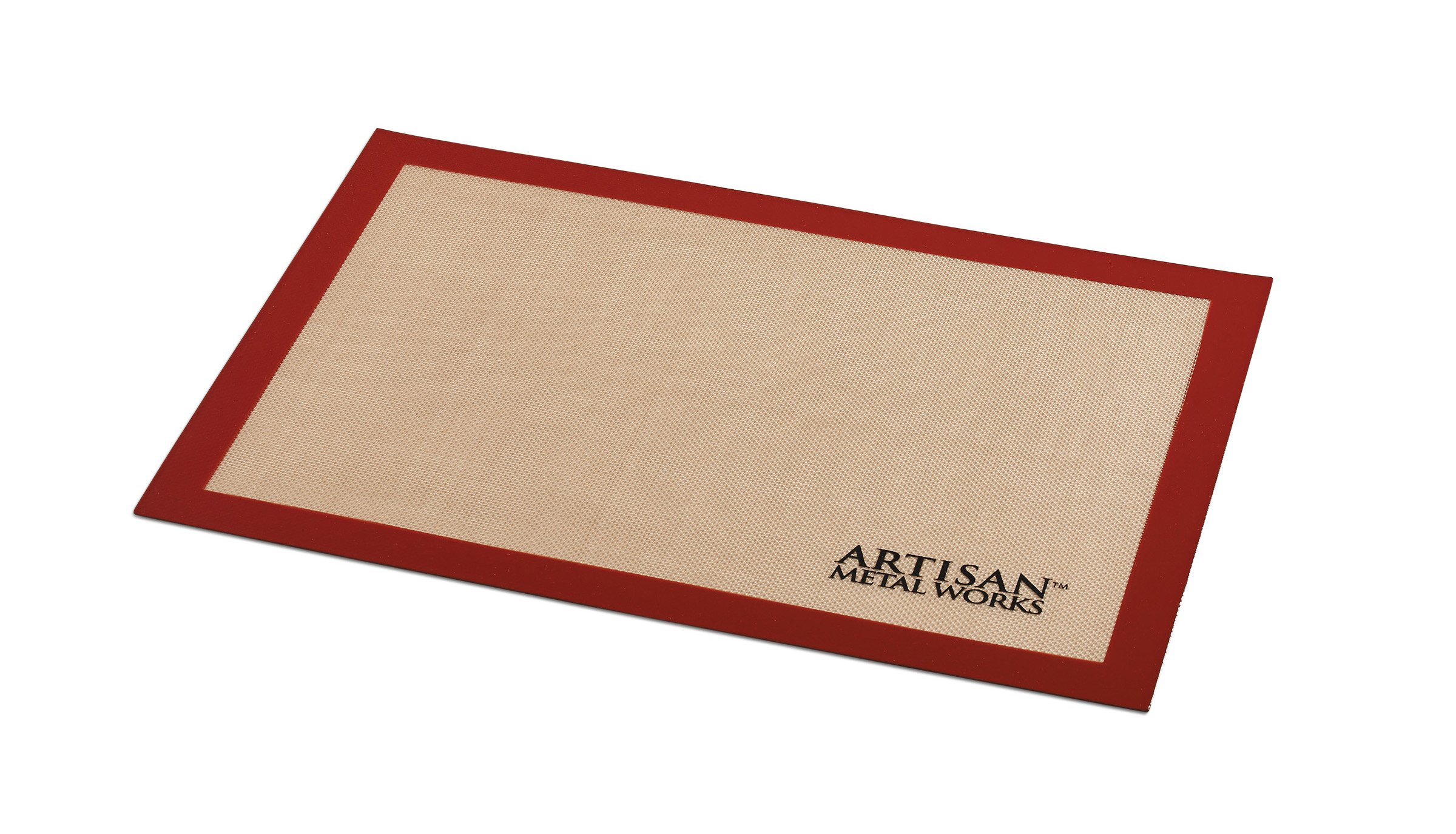 Artisan Silicone Baking Mat for 2/3 Size Cookie Sheet with Red Border, 18.75 x 13 inches by Artisan (Image #2)