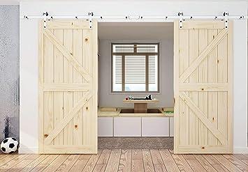 diyhd blanco y negro Mix Color Kit de puerta corrediza de madera ...