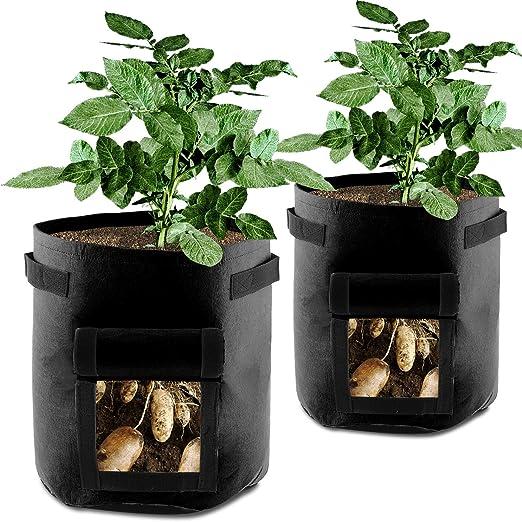 Love·G&X Bolsas de Cultivo 7 galones, para Plantas, Patatas ...