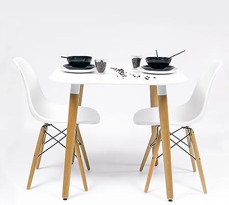 💙 DISEÑO NÓRDICO: NORDIK-80 es un precioso conjunto de comedor de diseño de inspiración nórdica-sca